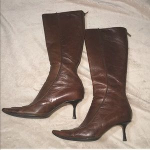 Vintage Jimmy Choo calf high leather boots